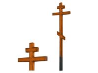 Крест дубовый с напылением 180 см