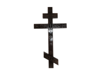 Крест деревянный прямой с декором