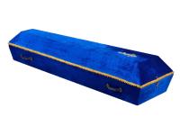 Гроб бархатный (Синий)