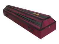 Гроб драпированный фигурный (Цвета в ассортименте)