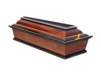 Гроб детский лакированный темный