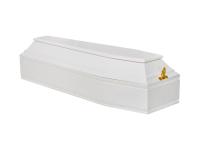 Гроб детский шестигранный белый