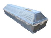 Детский гроб обитый тканью