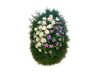 Похоронный венок из живых цветов