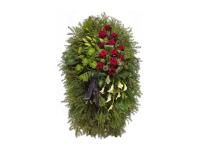 Ритуальный венок из живых цветов на похороны
