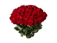 Траурный букет из красных роз